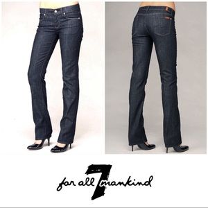 7 For All Mankind Dark Wash Straight Jeans 29 8